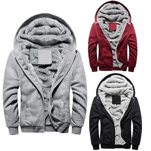 Wholesale- Men Fashion Winter Thick Cotton Coat Casual Hoodies Jacket Outwear