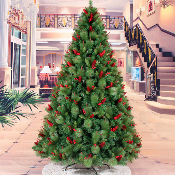 Christmas tree 2.4 m / 240CM red berries mixed pine needles pinecone Christmas tree Christmas Decoration