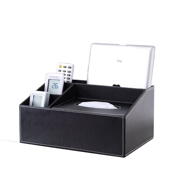 Wholesale- Ever Perfect Delicate Desktop Tissue Holder Dispenser With 3-Slot Cosmetics Box Makeup Holder Office/Home 11 colors and patterns