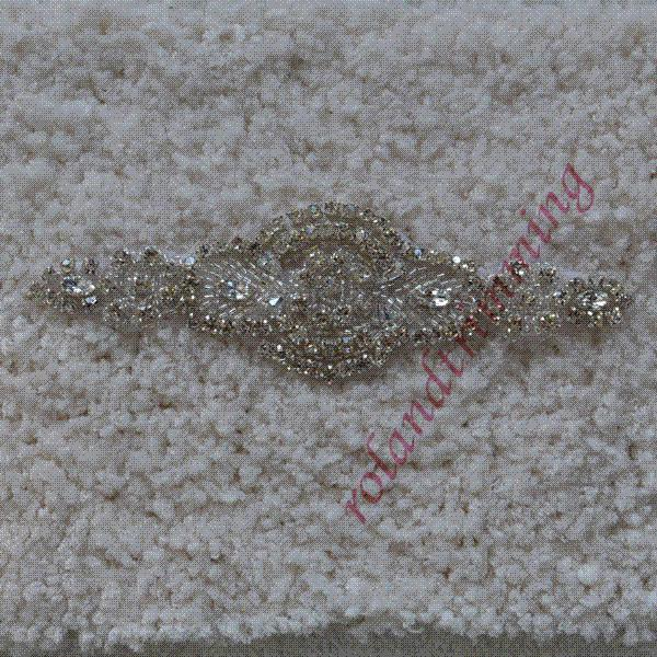 2014 new wholesale bridal appliques and trims beaded lace rhinestone applique RA347 M62897 Patches