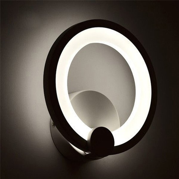 Modern Yuvarlak LED Duvar Işık 85-265 V 10 W 15 W Duvara Monte Oturma Odası Yatak Odası Kapalı LED Panel Duvar Lambası