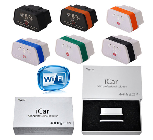 Original Vgate ELM327 Icar Icar2 Icar3 IV Pro OBD2 OBDII WIFI IOS Android Torque Full Protocol Best Quality Free ePacket