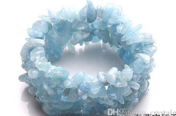 Crystalgarden New Cheap natural Single Blue Ocean Gem Gravel Crystal for women handmade jewerly gift