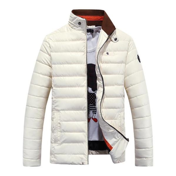 Großhandels- Qualitäts-moderne zufällige Ultralight Mens-Jacken-Herbst-Winter-Jacken-Männer PU-Leder Cotton-wattierte Jacke 95wy