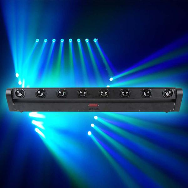 DMX512 pixel 8PCS 10W Cree RGBW 4 in 1 LED Beam Moving Head Bar illuminazione del palcoscenico KTV CLUB effetto luce del fascio di luce