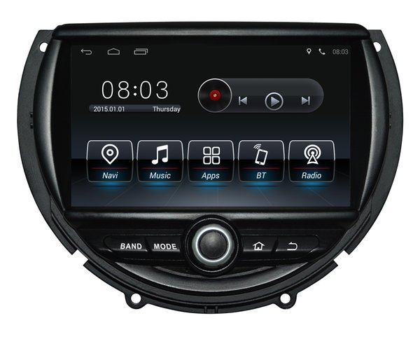Android9.0 Dört çekirdekli 1024 * 600 HD ekran Araba DVD GPS Navigasyon Mini Cooper için 2014-2016 ile 3G / Wifi DVR OBD 1080 P
