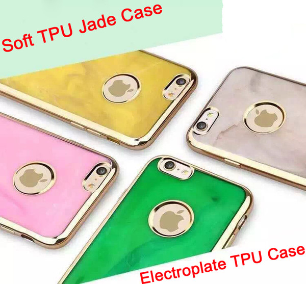 For iPhone 7 7plus 2016 NEW Electroplate Soft TPU Case Jade Scrub Plating Metal Chrome Cover For iPhone 6 6S Plus DHL Free SCA149
