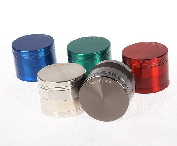 SharpStone herb metal grinder SharpStone 4 parts Hard top tobacco Grinders Diameter 50mm/55mm/63mm 6 colors grinder tobacco
