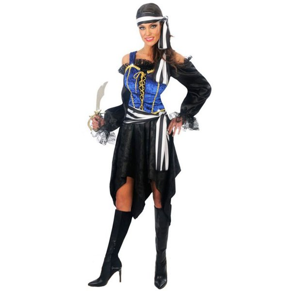 1adbe2a09 Halloween Costume for Women Sexy Caribbean Captain Pirate Costumes Adult  Female Warrior Fancy Cosplay Dress Clothing