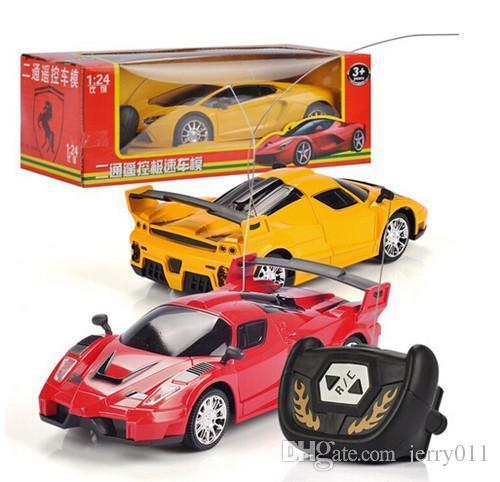 2016 new 2CH RC car remote control toys Electric Control Speed Toys mini 1:24 car model for Boys Children