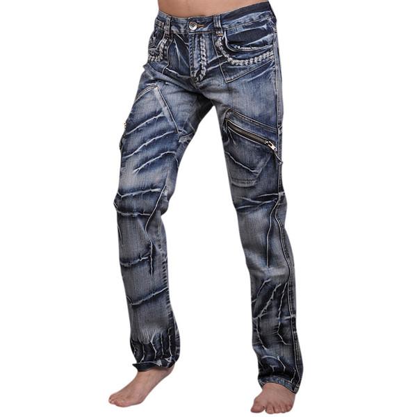 Wholesale-2016 Mens Designer Anthony Dragon Printing Jeans Denim Top Pants Man Fashion Pant Clubwear W30 32 34 36 38 L32 J018