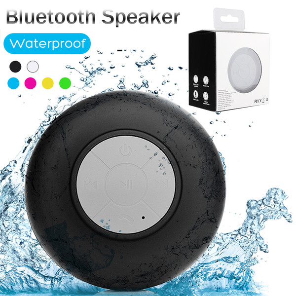 best selling Mini Portable Subwoofer Shower Waterproof Wireless Bluetooth Speaker Car Handsfree Receive Call Music Suction Mic For iPhone Samsung Package