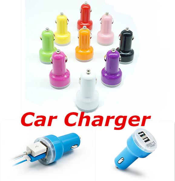 Caricatore universale per auto USB doppio per tutti gli apparecchi elettrici USB Adattatore 5V 2.1A 1A per IPad per IPhone6 Plus per telefono cellulare