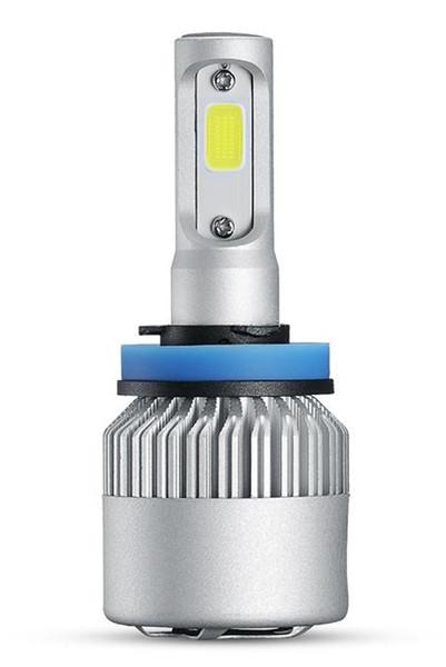 S2 Car LED Headlight bults H4 H7 H11 9004 HB3 9007 HB4 H1 9012 H13 COB LED Headlights conversion kit Lamp Single