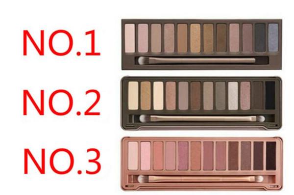 Nuovo trucco fumoso di arrivo NO: 1/2/3 palette 12 colori Matte Natual eyeshadow Cosmetici Nave libera