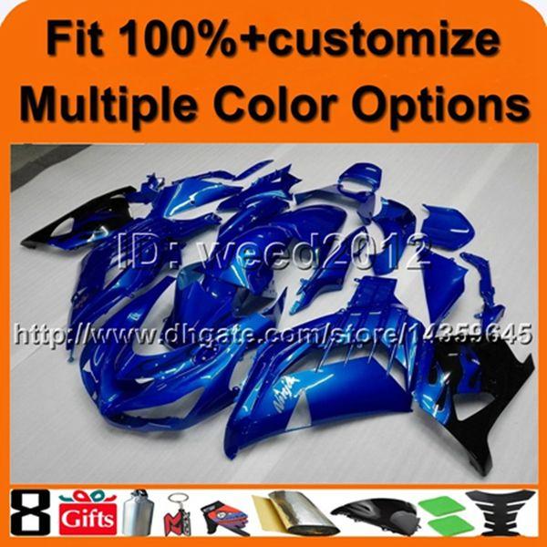 23colors+Free gifts Injection mold blue ABS Fairing kit for Kawasaki ZX-14R 2006-2011 fairing Ninja ZX14R 2006 2007 2008 2009 2010 2011