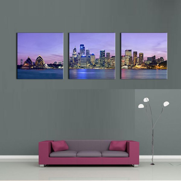 The Sydney Opera House Is Lake Wall Art Painting The Picture Print On Canvas City Pictures For Home Decor Decoration Gift