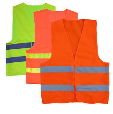 Sicherheit Sicherheit Sichtbarkeit Reflektierende Weste Warnung Grün Orange Sicherheitsweste Konstruktion Sicherheit Arbeitsweste Verkehrswesten