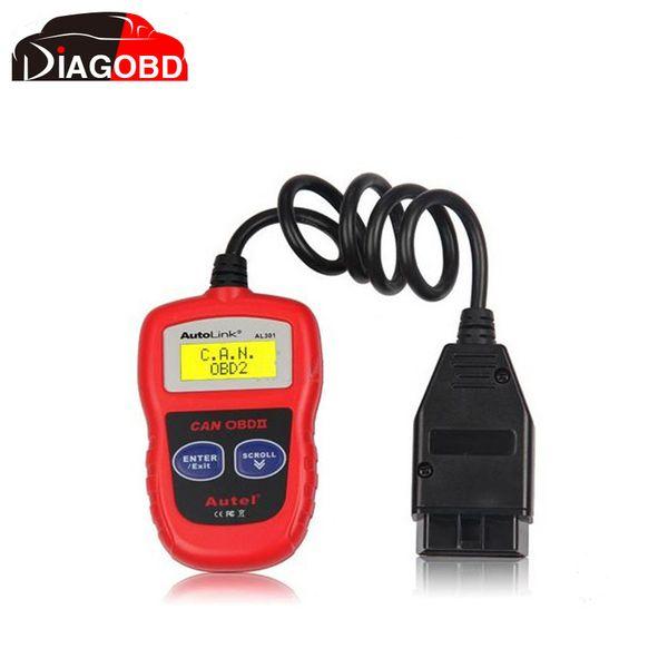 Wholesale-Original Autel Auto Diagnostic Scan Autel AutoLink AL301 OBD II & CAN Code Reader Auto Link AL-301 Update Official Website