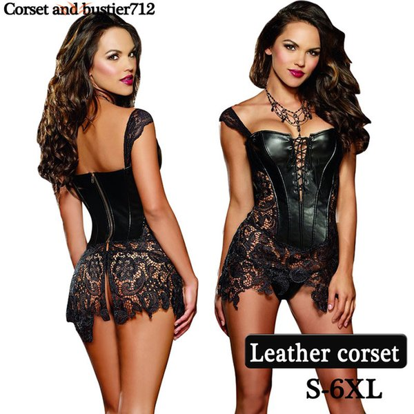 Wholesale- Plastic steel boned steampunk party Hollow Out sexy Intimates corselet bustiers gothic body shaper Leather waist trainer corsets