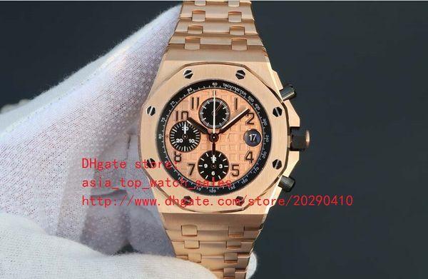 Venta directa de fábrica Relojes de lujo para hombre Reloj de pulsera Limited Cronógrafo de cuarzo 18k Relojes de oro rosa para hombre de acero inoxidable