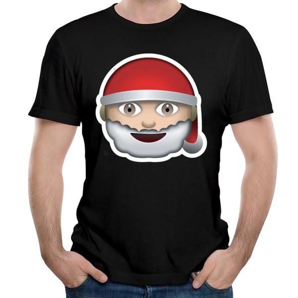 Le père noël arrive t-shirt homme t-shirt à manches courtes col rond adulte t-shirts garçon adolescent confortable t-shirt santa claus