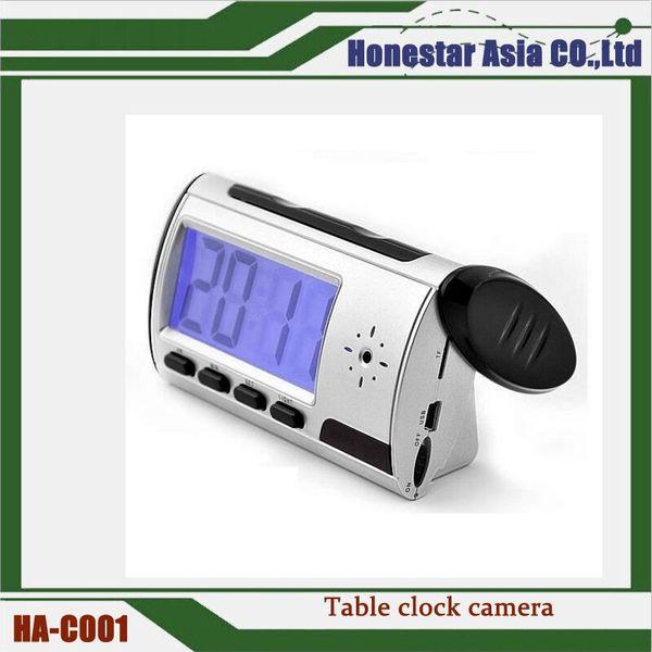 480p table clocki Camera Digital Alarm Clock Video DVR recorder camera Nanny Camera with motion detection function