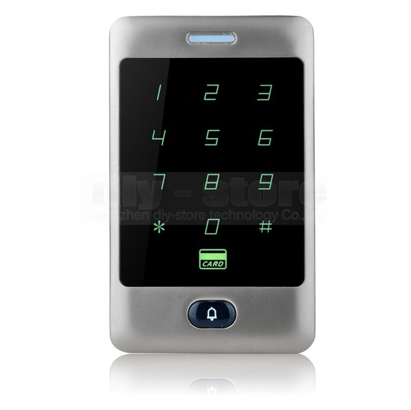 DIYSECUR Touch Button 125KHz Rfid Card Reader Door Access Controller System Password Backlight Keypad Silver C30