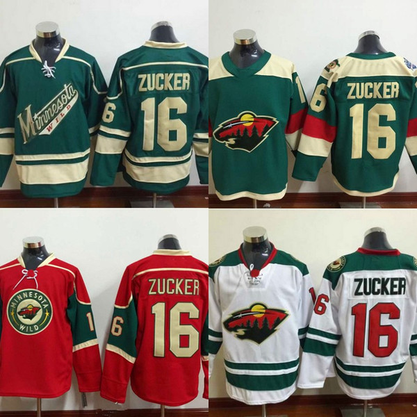 sale retailer 0c899 b017d 2018 #16 Jason Zucker Jersey, Men'S Minnesota Wild Hockey Jersey Jason  Zucker 100% Stitched Embroidery Logos Jerseys Green White Red Wholesale  From ...