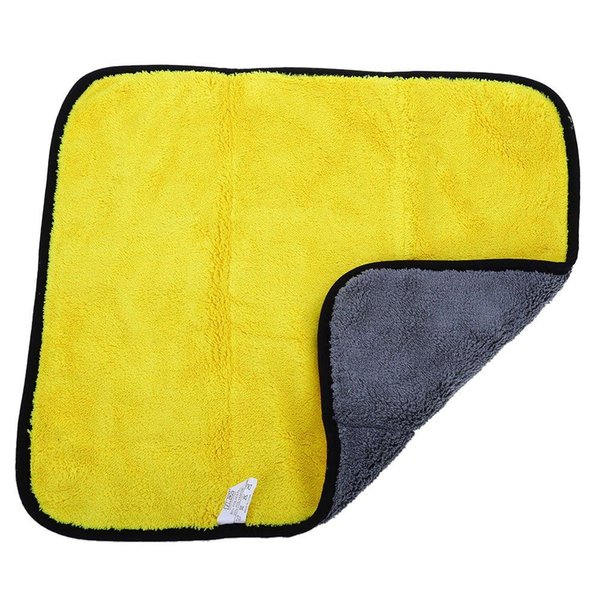 Wholesale- 2 in 1 Double Side Microfiber Premium Coral Fleece Vehicle Wash Towel Amazingly Absorbent with High Quality Chenille Material