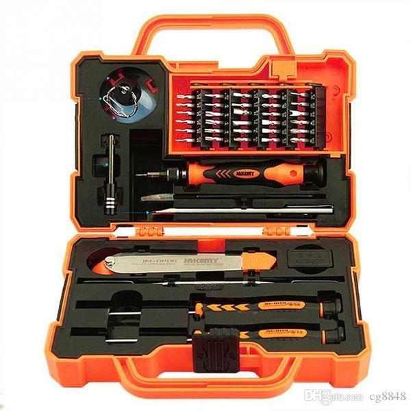 45 em 1 Kit de Ferramentas de Reparo Eletrônico Multi Bits Chave De Fenda Set com Pinças Spudger para Laptop Celular Tablet Reparação