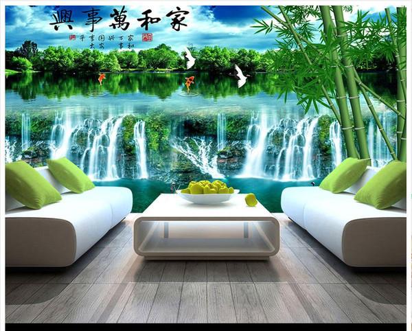 Acheter Fond D\'écran Photo Murale Moderne Et Minimaliste Personnalisé  Paysage Fresque Fresque Murale Art Abstrait Murale Décoration Murale  Chambre ...