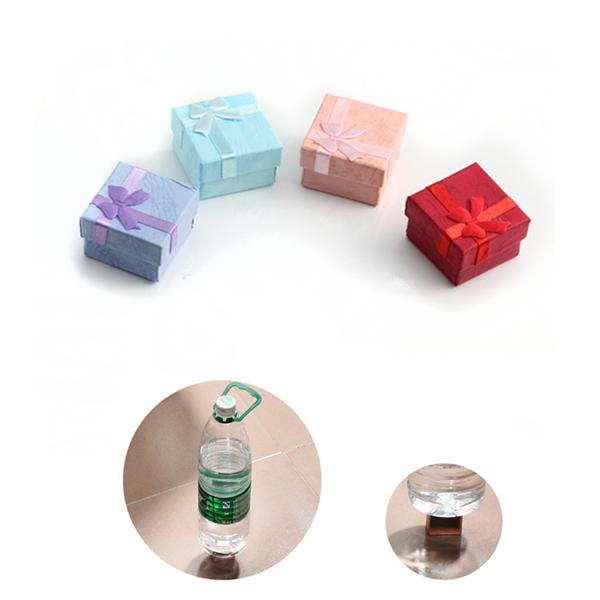 best selling 4 Different Color Jewelry Box Mostly For Earrings Ring Jewellery Packaging And Display 4x4x2.5CM Great Quality