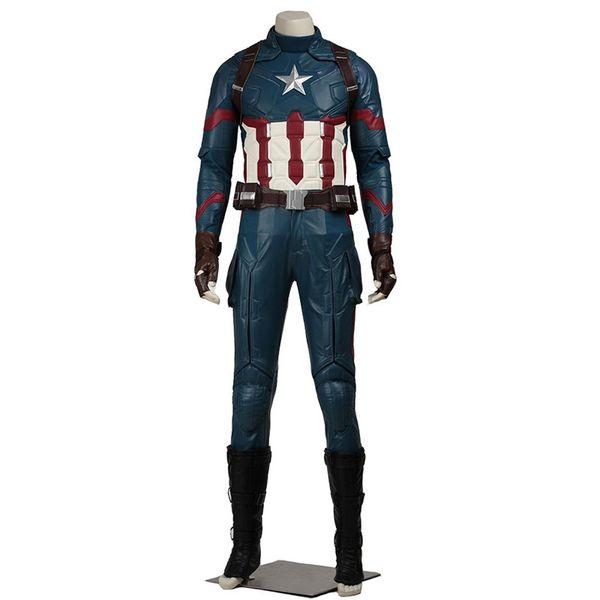 Malidaike Men's Suit for Captain America 3 Civil War Cosplay Costume Halloween Comaplete Suit Male Size