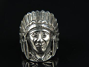 Vintage Indian Chief Head Ring Punk Hipster Style Cool Gift Hot Sale Wholesale DHL Free Shipping