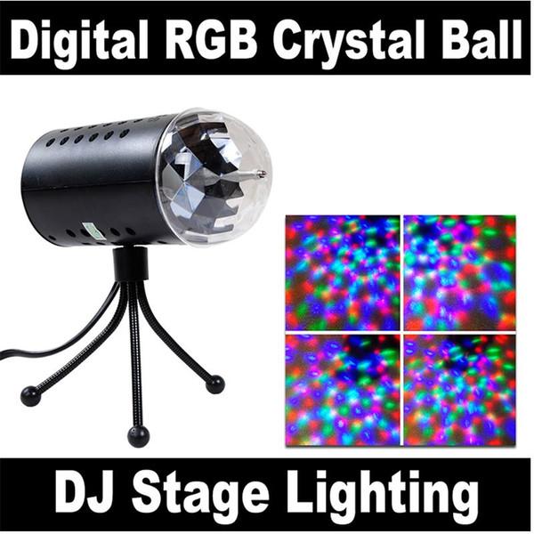 New RGB 3W Crystal Magic Ball Laser Stage Lighting For Party Disco DJ Bar Bulb Lighting Show