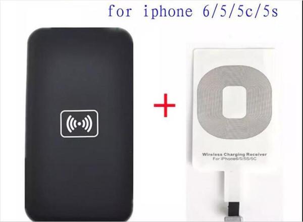 Carregador sem fio Qi Kit para iPhone 6 5 5c 5s carga sem fio Pad de Carregamento e Receptor Card kit carregador de telefone celular