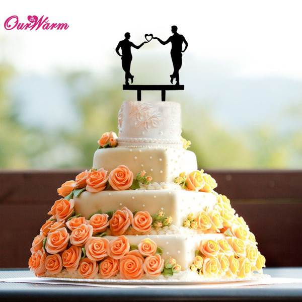 Christmas Wedding Cake Toppers.New Sex Man Gay Cake Topper Acrylic Wedding Cake Accessory Inserted Card For Wedding Decoration Event Party Supplies Cake Tools Christmas Gift