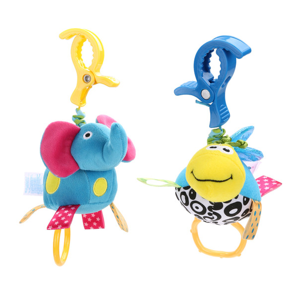 Newborn Baby Infant Cute Cartoon Animal Plush Doll Toy Gift Soft Baby Kids Bed Stroller Hanging Baby Rattle Toys