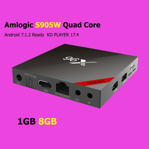 best selling [Genuine] X96 Android 7.1 TV box Amlogic S905W Quad Core 1GB 8GB PK X96 mini TX3 mini