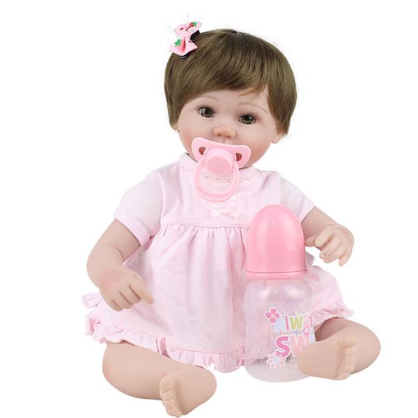great deals classic fit utterly stylish Acquista 45 Centimetri Realistico Reborn Baby Doll Panno Corpo PP Cotone  Morbido Silicone Vinile Neonato Bambole Bambini Bambino Regalo Di  Compleanno ...