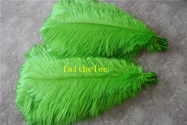 Wholesale-FREE SHIPPING 100pcs/lot 18-20inch lime green Ostrich Feather plume for wedding centerpiece party table event supply decor