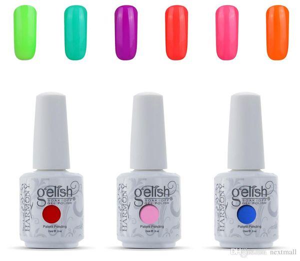 12pc lot harmony geli h oak off led uv gel nail poli h, Red;pink