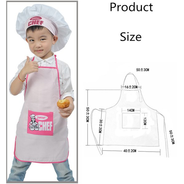 1 Set Polyester Kids and Chef Hat Child Cooking Baby Junior Chef Cook Apron Painting Apron Family Supplies