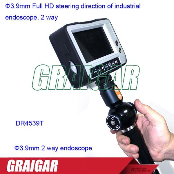 Trança de tungstênio direção de direção Full HD de 3,9mm de endoscópio industrial, 2 vias