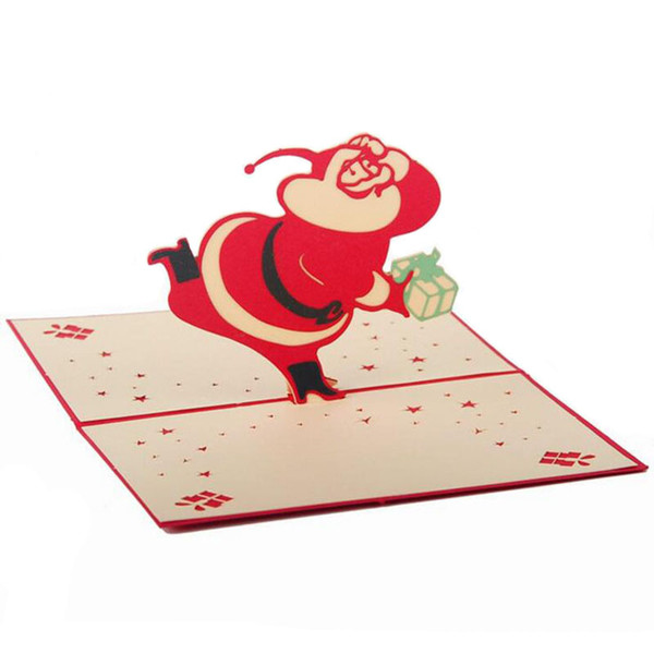 Partie Main Décoration De Noël 3d Papier Cartes De Voeux De Noël Cadeaux D'anniversaire Décoratifs Artisanat De Noël Décoration Fournitures