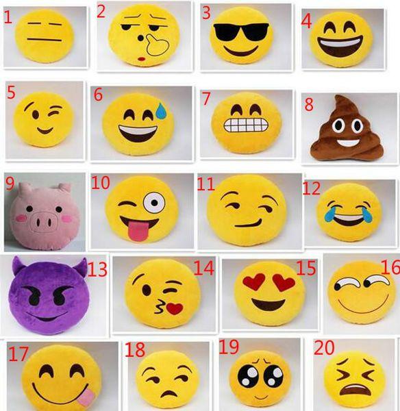 Emoji Cuscini.Acquista Diametro Di Moda 13 7 Pollici 23 Disegni Carino Cuscino