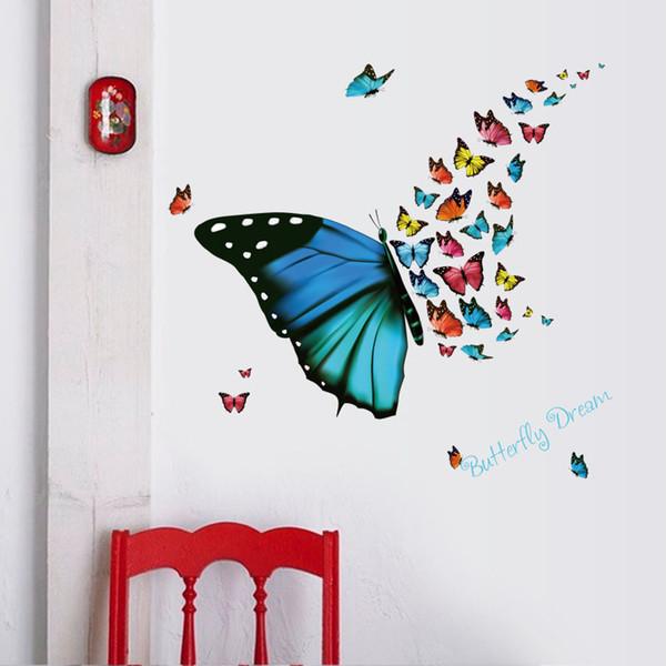 beautiful butterfly wall stickers home decor living room children room bedroom kitchen bathroom wall decals murals