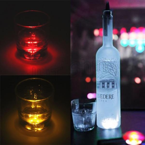 Großhandel Großhandels Led Flaschen Licht Aufkleber Partei Mini Bar Club Wein Glasvase Dekoration Led Flaschen Glorifier Mini Licht Led Untersetzer