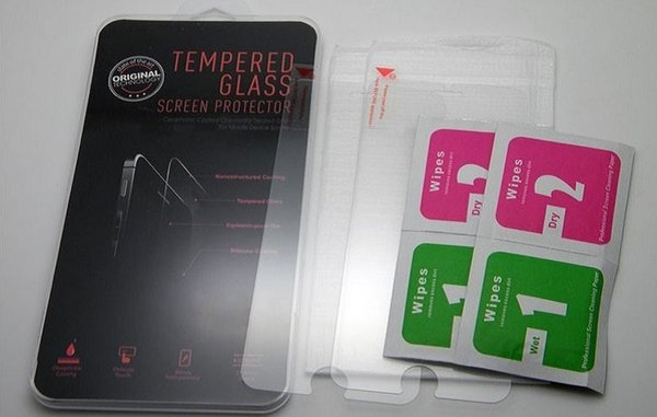 Premium Real Tempered Glass Film For iPhone 4 5 6 6S Plus Samsung S7 S6 S4 Screen Protector Film +Clean Tools With Crystal Package